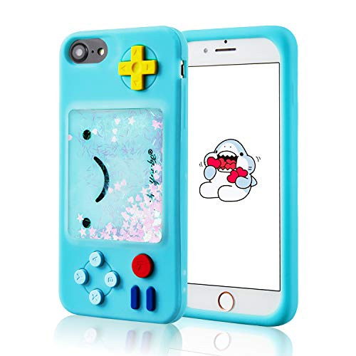 Jowhep Case for iPhone 6/6S/7/8/SE 2020 4.7' Silicone Carton Design Cute Cover Fashion Funny Kawaii 3D Skin Protective Accessories Shell Shockproof Scratch Resistant Cases Kids Green Quicksand Game