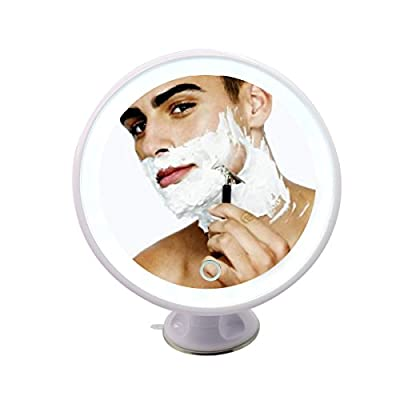 Makeup Mirror with Lights , LED Lighted Movable Vanity Mirror Bright LED Magnification Large Screen Touch Dimmable
