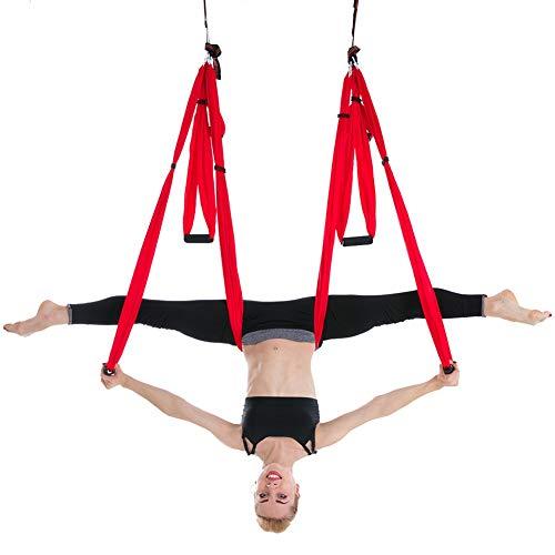 HEEGNPD 2,5 * 1,5 m Anti-zwaartekracht Yoga hangmat schommel vliegen Air Traction apparaat Yoga hangmat set thuis Gym opknoping riem schommel trapeze