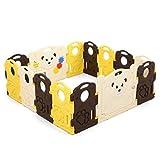 Smmli-Toy Baby Zaun, Kinderspiel Zaun Baby Krabbeldecke Kleinkind Leitplanke Schutzzaun Home Baby Indoor Spielplatz Gehege (ohne Ball) (Größe: 113x150cm)