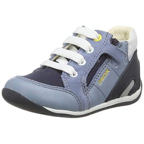 Geox B Each Boy B, Sneakers Base Bambino Bimbo 0-24, Blu (Lt Jeans/Navy Ca4F4), 18 EU