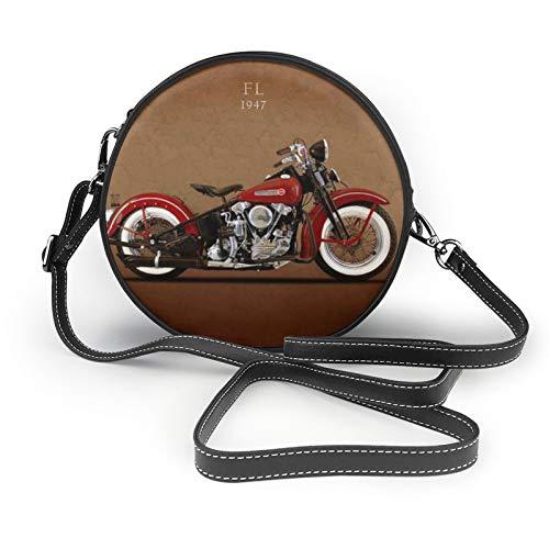 Harley Davidson Fl Borsa a Tracolla Rotonda Crossbody Borsa In Pelle Borsa Borsa Messenger Per Le Donne Ragazze
