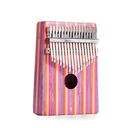Kleur Bamboe Duim Piano, Beginner 17 Geluiden, Vinger Hand Spelen De Piano, Verjaardagscadeau, Poeder, Groen (Kleur : Roze)