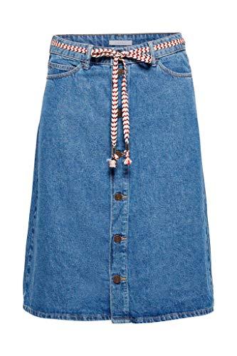 Esprit 039ee1d018 Falda, Azul (Blue Medium Wash 902), 38 (Talla del Fabricante: 36) para Mujer
