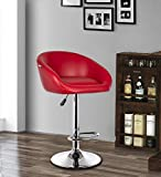 MBTC Judith Office Bar Stool Chair in Red