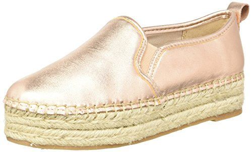 Sam Edelman Mujeres Carrin Punta Cerrada Piel Alpargatas, Blush Gold/Metallic Leather, Talla 10