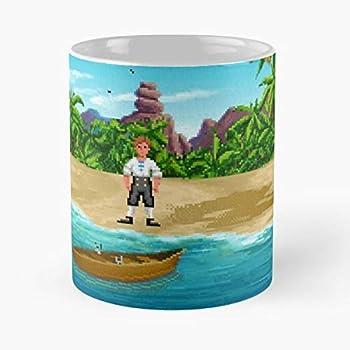 Monkey Island Guybrush Threepwood Call Center Dinky Cover Best 11 Ounce Cer/ámica Coffee Mug Gift