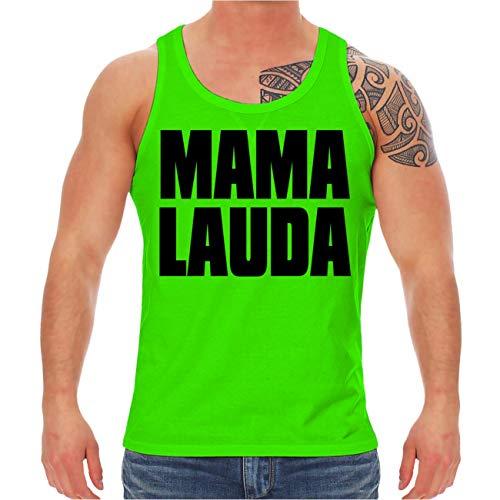Männer und Herren NEON Tank Top Träger Shirt Sprüche Mallorca Mama Lauda Größe XS - XXL