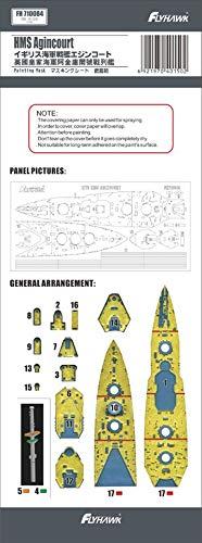 フライホークモデル 1/700 イギリス海軍 戦艦 エジンコート マスキングシート (フライホークモデルFH1310用) プラモデル用マスキングシール FLYFH710084