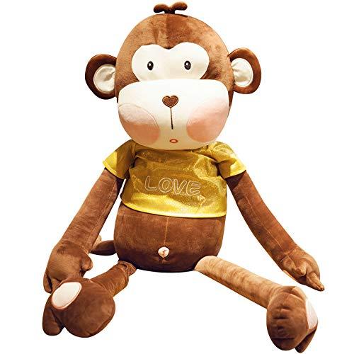 Mono Lindo Felpa Muñeca Hugging Pillow Regalo Cumpleaños Linda Adultos los Niños Almohada Animal Felpa Muñeca,Marrón,50 cm