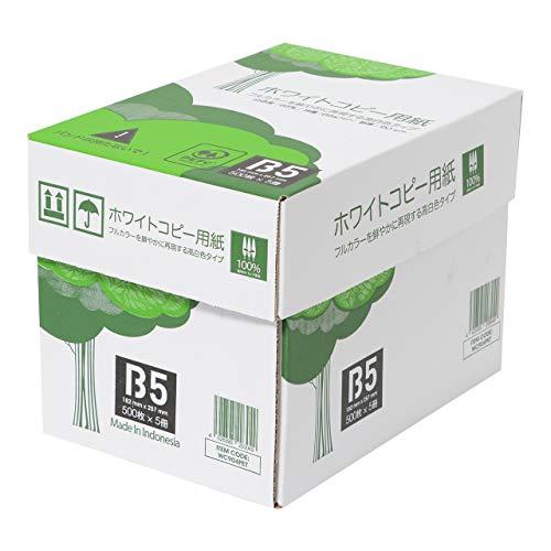 スマートマットライト APP 高白色 ホワイトコピー用紙 B5 白色度93% 紙厚0.09mm 2500枚(500枚×5冊)
