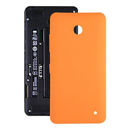 Custodia Protettiva Antiurto Dura e Confortevole Coperchio Posteriore Batteria di Ricambio di Alta qualità for Nokia Lumia 630 (Nero) (Color : Orange)