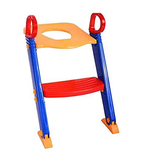 DUTUI Escalera de baño Plegable Escalera de baño para niños Puede almacenar inodoros niños y niñas Escalera para niños Escalera portátil Ajustable libremente