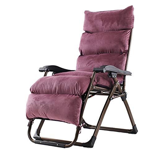Hang-chair Faltbarer Verstellbarer schwerkraftfreier Computerstuhl mit gepolsterter Kopfstütze, Büroliege für Camping im Freien, Garden...