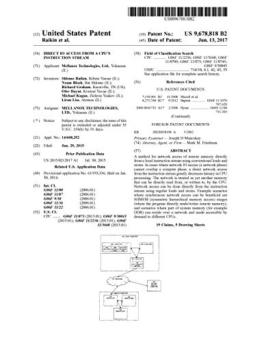 Direct IO access from a CPU's instruction stream: United States Patent 9678818 (English Edition)