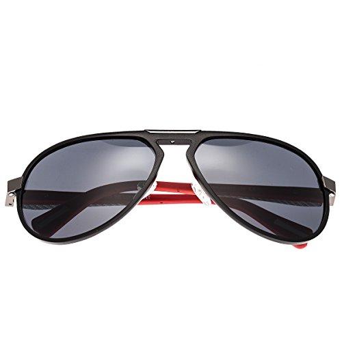 Breed Octans Titanium Sonnenbrille, Schwarz (schwarz / schwarz), Medium