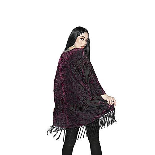 Blackcraft Cult Baroque Velvet Dames Gotisch Occult Fashion Overmaatse Kimono