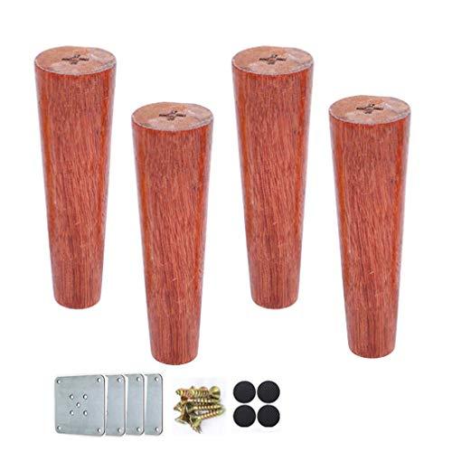 ZTMN massief houten meubelpoten, houten bankvoeten, bankpoten, kasten voeten, voor eindtafels/tv-kast/dressoir, vervangende poten, set van 4 (7inch/18cm)