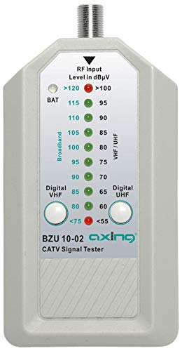 Axing BZU 10-02 CATV-Signaltester Digital Kabelfernsehen Messgerät