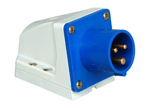 Kopp Caravan Wandstecker 3-polig, 16 A, 230 V, blau, 171600001