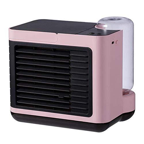 Mini Aire Acondicionado Portátil, Aire acondicionado móvil, con 3 velocidades, escritorio, refrigerador personal, ventilador, ventilador de refrigeración por evaporación del espacio, pequeño humidific