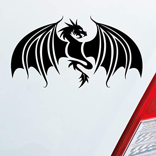 Auto Aufkleber in deiner Wunschfarbe Drache Dragon Chinesisch Game Thrones 12x7 cm Autoaufkleber Sticker Folie