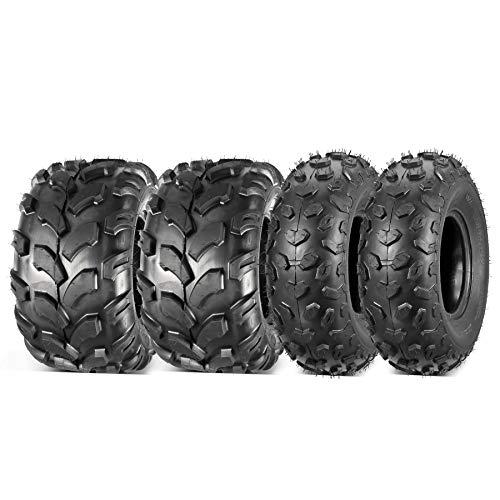 Set of 4 Maxauto 19x7x8 & 18x9.5x8 Full Set Sport ATV tires 19x7-8 Front 18x9.5-8 Rear Off-Road ATV UTV Tire Turf Tires All-Terrain Mini Bike Tires 4PR Tubeless