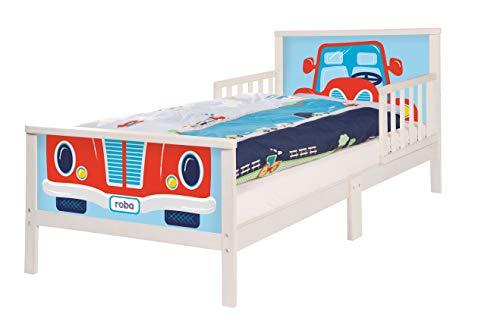 roba Themenbett 'Rennfahrer', Kinderbett 70x140cm inkl. Matratze und Lattenrost für Jungs