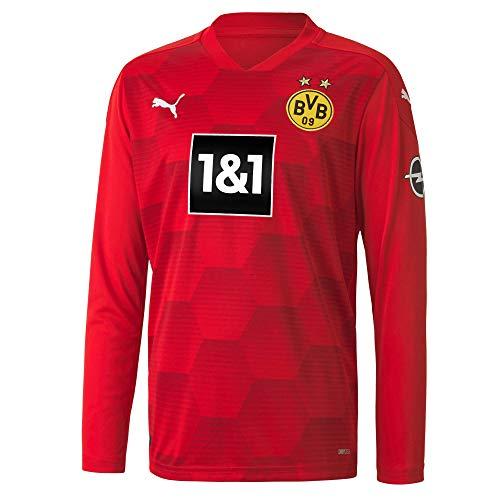 PUMA BVB GK Shirt Replica LS Jr w.Sponsor New Torwarttrikot, Red, 140, Puma Red