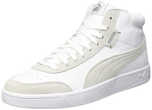 PUMA Court Legend SL Collar, Zapatillas Unisex Adulto, Blanco White White/High Rise, 38 EU