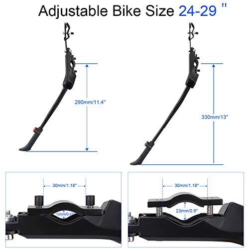 DIAOCARE Fahrradständer, Seitenständer Fahrrad Universal Aluminiumlegierung Fahrrad Ständer Rutschfester Gummiständer für 24-29 Zoll, Mountainbike, Rennrad, Fahrräder und Klapprad, Höhenverstellbar - 4