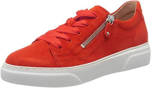 Gabor Damen Sneaker Schnürschuh rot Gr. 43
