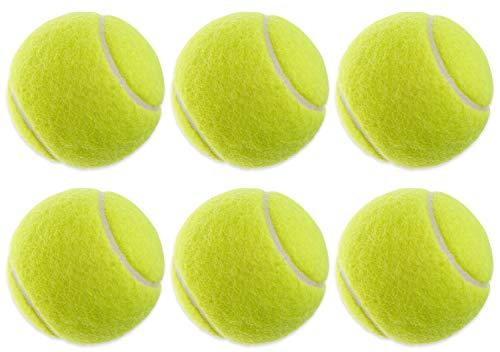 6 x piłek tenisowych do tenisa i rekreacji   żółta piłka tenisowa w zestawie dla początkujących i doświadczonych użytkowników, piłka treningowa, piłka do tenisa dla dzieci i dorosłych, idealna do gier na świeżym powietrzu