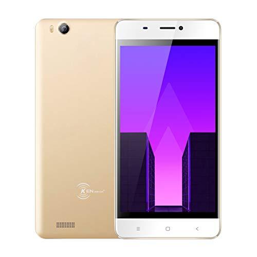 Smartphone Libre de 4.5 Moviles Ken XIN DA V6, Android 7.0 Phone Dual Sim Teléfonos móviles desbloqueados, 3G Android Cellphone 4.5 Pulgadas, Quad Core 1g / 8g GPS WiFi Teléfono Celular (Oro)