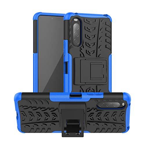 betterfon   Sony Xperia 10 II Hülle Outdoor Handy Tasche Hybrid Hülle Schutzhülle Panzer TPU Silikon Hard Cover Bumper für Sony Xperia 10 II Blau