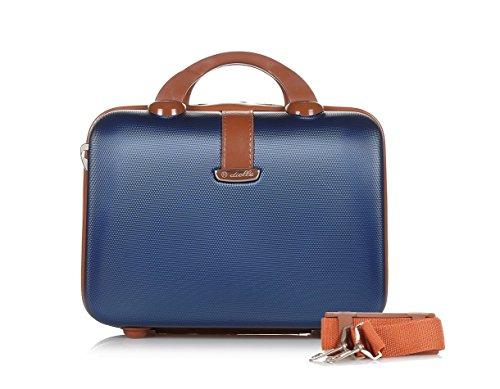 Dielle Beauty Case Organizzato Rigido in ABS con Tracolla e Fascia per Trolley 32x23x14 cm.