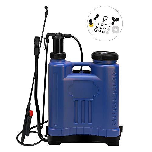 Beaugreen Backpack Sprayer Pump Pressure Sprayer Garden Weed Killer Sprayer for Lawn Garden Farm (4 Gallon/ 15L-Blue)