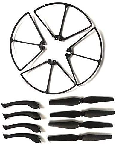 Accessori per droni Elica per Syma X8C X8W X8G Rc Quadcopter Parti Elica e protezioni per eliche Lame Telaio e pattino di atterraggio per parti Syma X8C Accessori per droni (Colore: Verde militare) (C