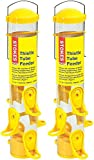 CLEVER DESIGN: This Thistle feeder is specially designed for finch bird seed mixes and nyjer and its cheery bright yellow stands out in any outdoor space SIMPLE AND EASY: This large tube bird feeder is easy to clean, fill, and refill HIGH QUALITY: Ro...