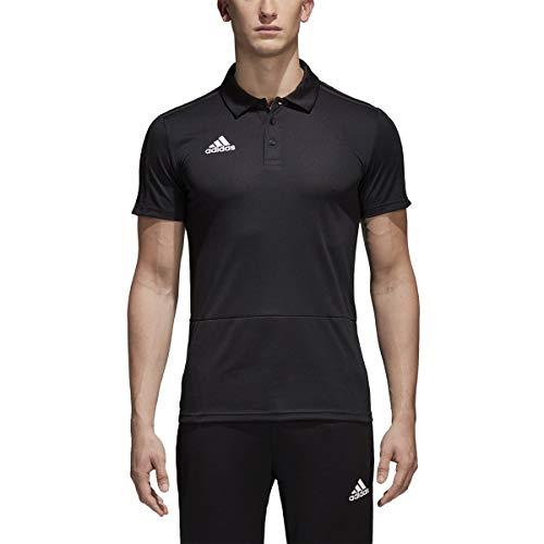 adidas Men's Condivo 18 Polo Shirt (Large) Black/White