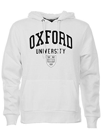 Herren-Kapuzenpullover, offiziell lizenziertes Produkt der Oxford University Gr. Medium, weiß