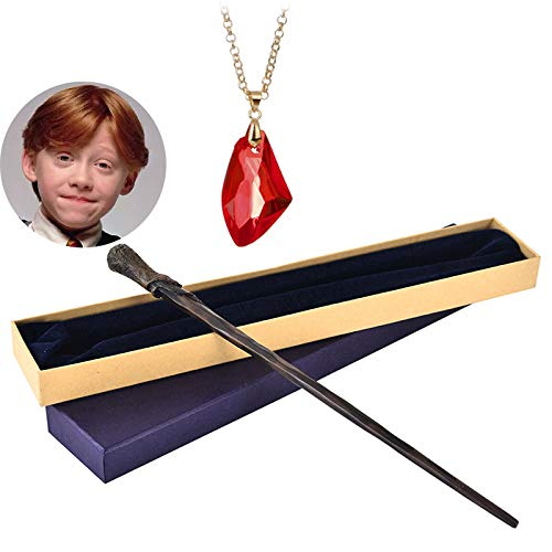 FSYG The Noble Collection Professor Snape Wand Ginny Weasley Toy Bacchetta Collana con Harry Potter Stone Stone Wizarding Wizarding World Wand,E