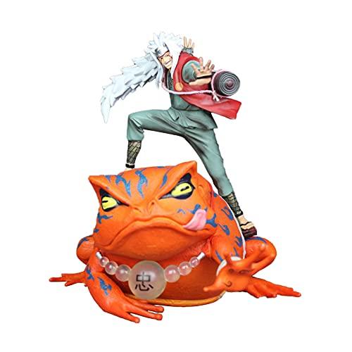 Naruto Figura Jiraiya Gama-Bunta Estatua Figura de Acción de Anime, PVC Juguetes Modelo de Mesa Decoración Recuerdo Colección-2PCS
