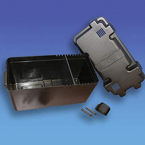 Coverandcarry - Caja de batería para autocaravana y barco (tamaño máximo de la batería: 405 x 200 x 190 mm)
