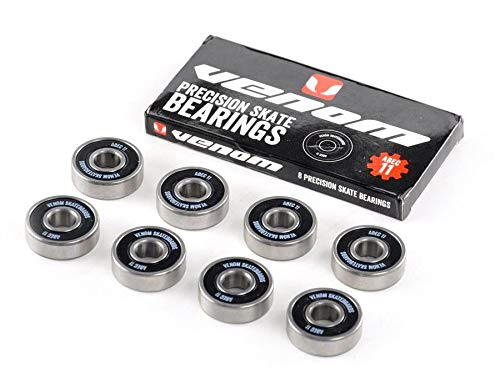 Venom Fast Skateboard Bearings ABEC 11 608z Super Smooth Premium For Skate...