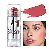 KLG Makeup Essentials Blush Stick, Rubor Para Mejillas Shimmer Blush Stick Maquillaje Facial Resaltador Bronceador Crema De Contorno Herramienta De Cosméticos Faciales De Larga Duración