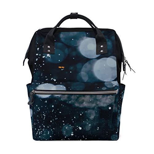 Daud Balling - Bolsa para pañales de gran capacidad, mochila para el cuidado del bebé, elegante, multifunción, resistente al agua, mochila de viaje elegante para mamá y papá