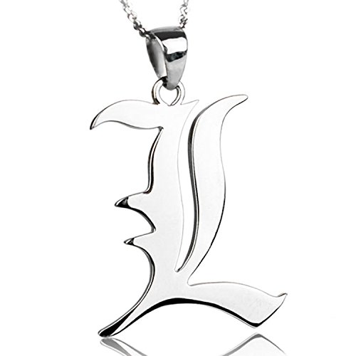 CoolChange Death Note Halskette mit L Anhänger aus echtem 925 Sterlingsilber