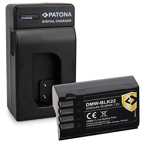 PATONA Cargador con DMW-BLK22 Protect Batería Compatible con Panasonic DC-S5, G9, GH5, GH5S