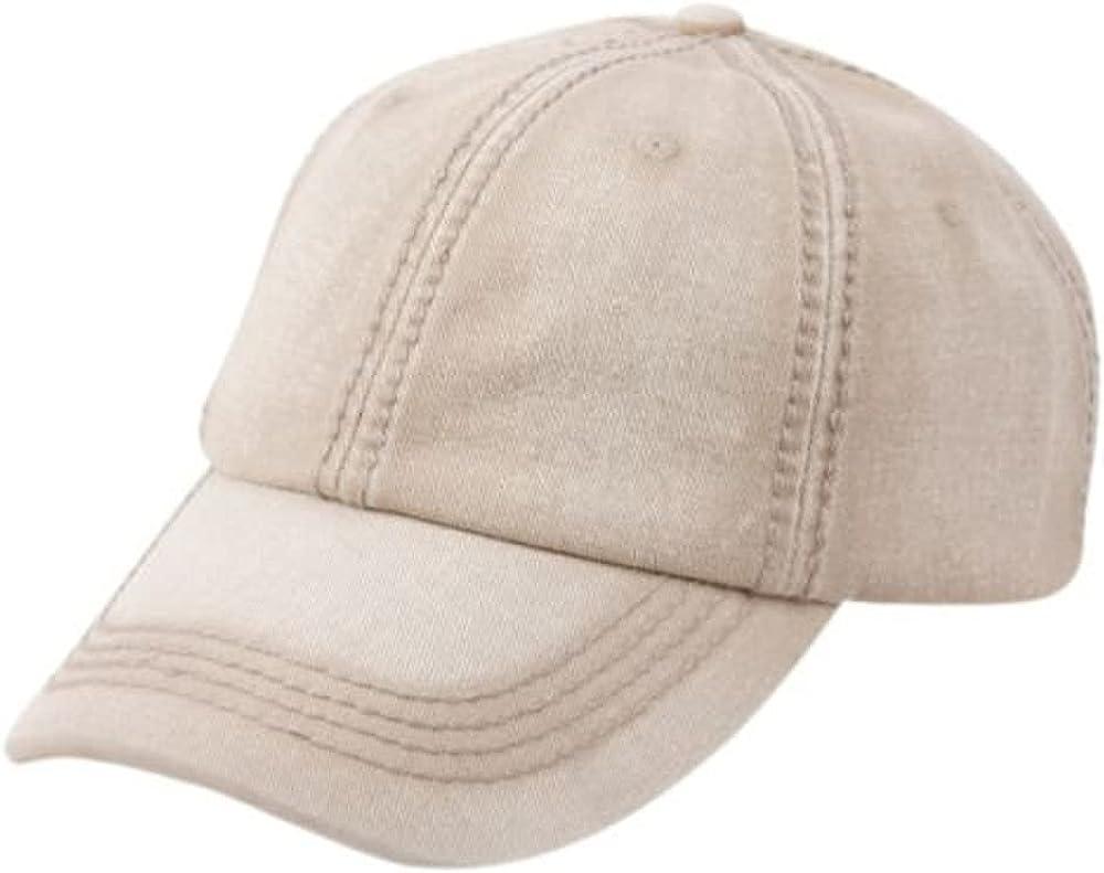 Vintage Cotton Low Profile Plain Classic Washed Adjustable Unisex Baseball Cap Hat